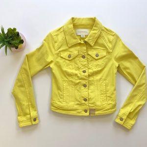 Anthropologie Pilcro Crop Denim Jacket Leather XS
